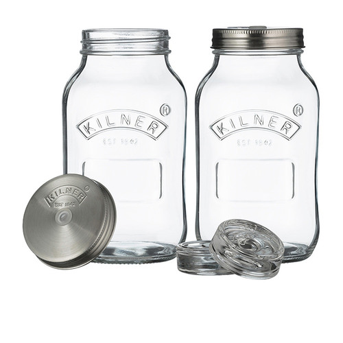Fermentation Jars  1 litre - Set of 2