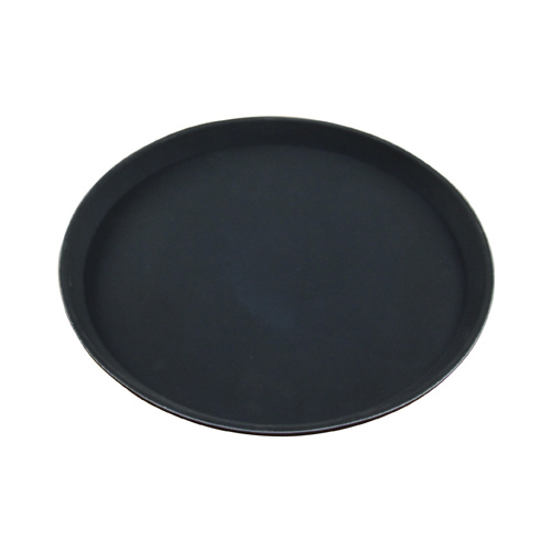 Round Bar Tray Plastic Non Slip 280mm Black
