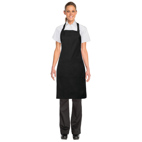 Black Butcher Bib Apron-W/Pocket